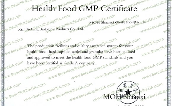 Food health GMP Certificate