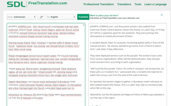 SDL machine translation