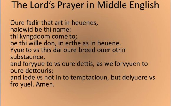 This is Middle English