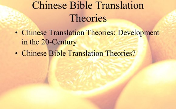 Translation Theories: