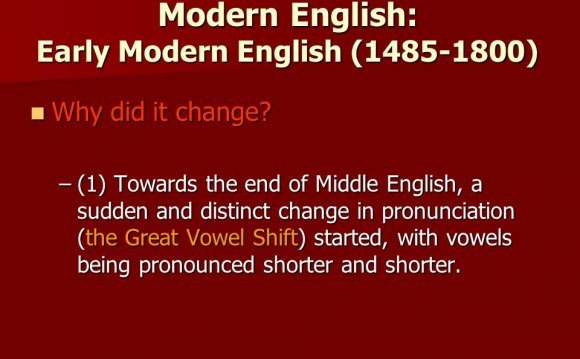 Modern English: Early Modern