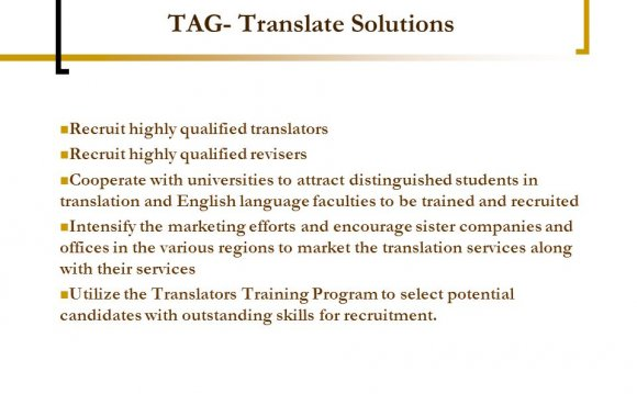 Qualified translators
