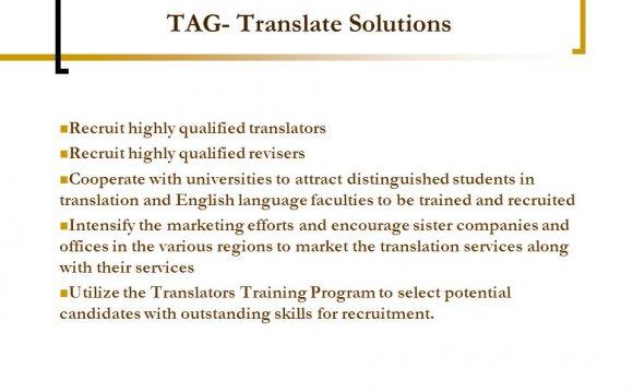 Qualified translators