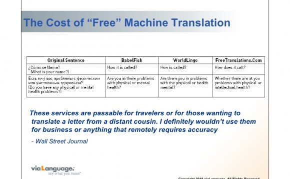 """The Cost of """"Free"""" Machine"""