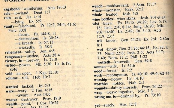 Old English word meanings