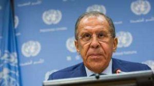 The surname of Sergey Lavrov, Russia's Foreign Minister, was translated to