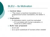 BLEU machine translation