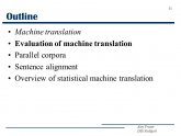 Machine translation Evaluation
