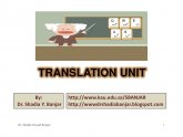 Machine translation PPT