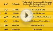 99 Names of ALLAH with Proper Translation