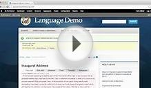 Language Translation Workflow Demo using OpenPublic