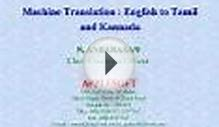 Machine Translation : English to Tamil and Kannada