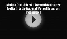 [PDF Download] Modern English for the Automotive Industry