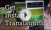Translate Foreign Text Live in Real Time Using Your Smartphone