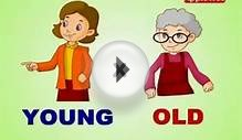 young and old - Opposite Words in ENGLISH l Animation